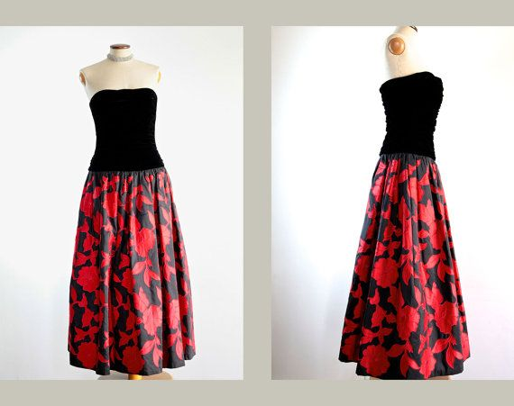 1980s Victor Edelstein Couture Strapless Ball Gown by LaDonnaPrive