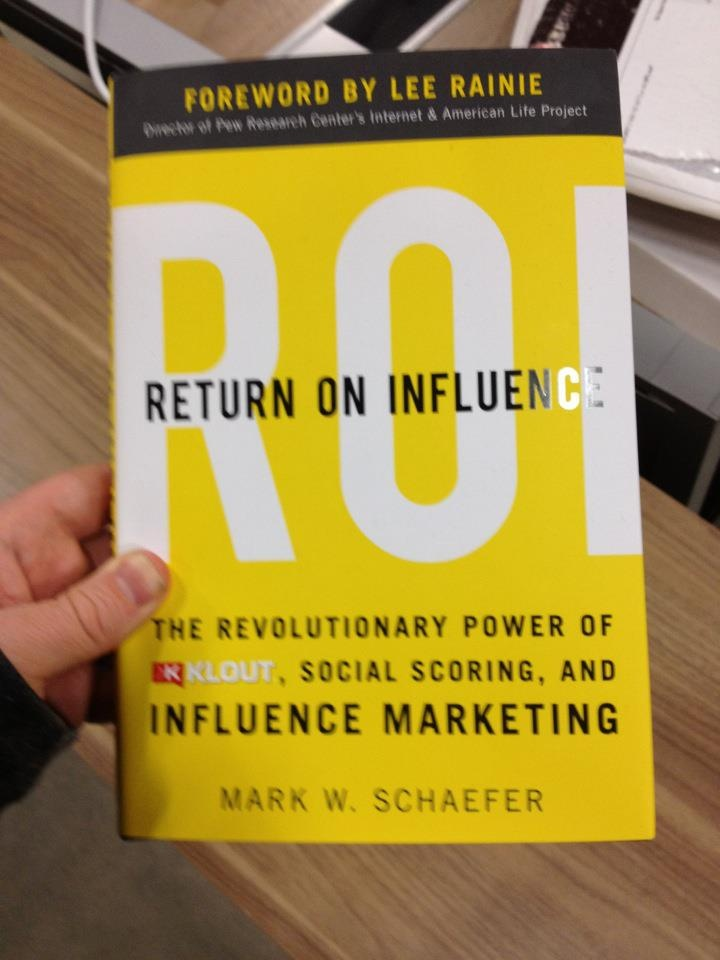 """This is amazing. A whole book on klout! I can't really believe it."" -- via Joe Fernandez"