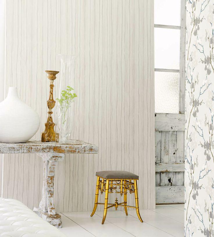 Rustic Living | Stripe Design Wallpaper by Camengo | Jane Clayton