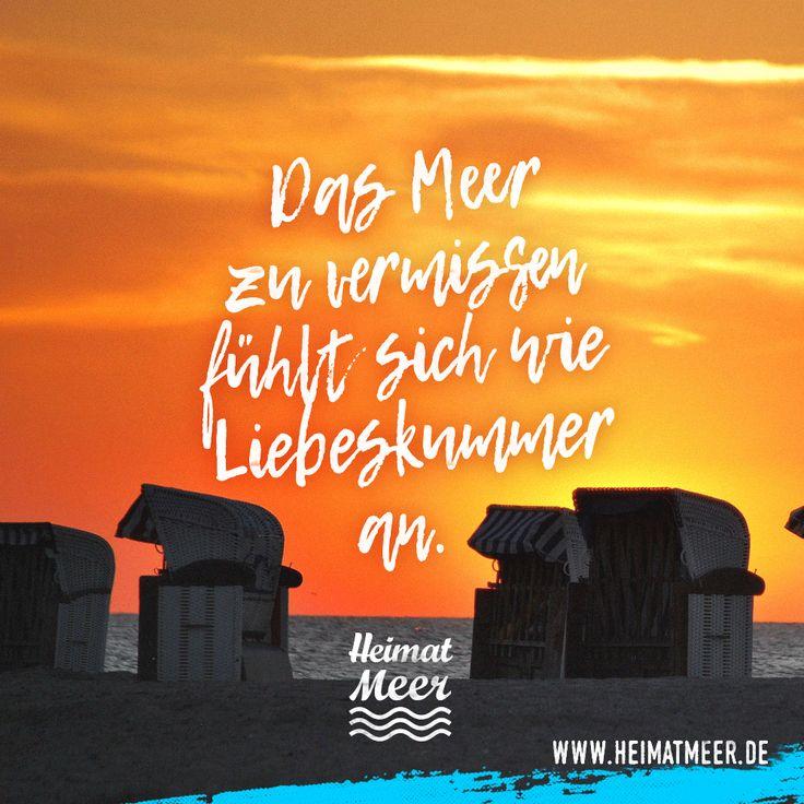 Das Meer zu vermissen ist wie Liebeskummer! Mittel dagegen findet ihr auf www.heimatmeer.de >>