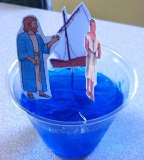 Jezus loopt over het water