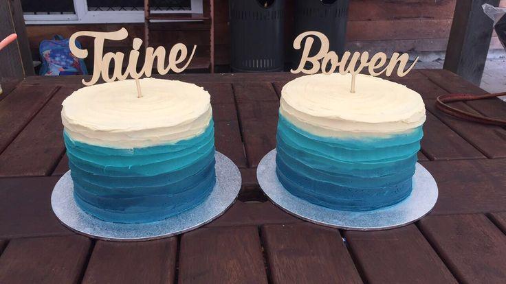 Twin Ombre Birthday Cakes