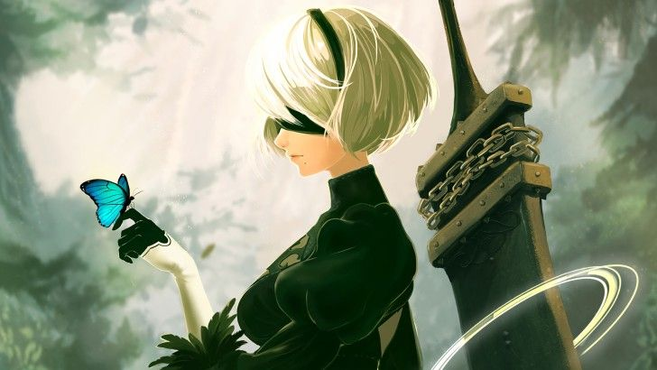 YoRHa 2B Nier Automata Game Wallpaper