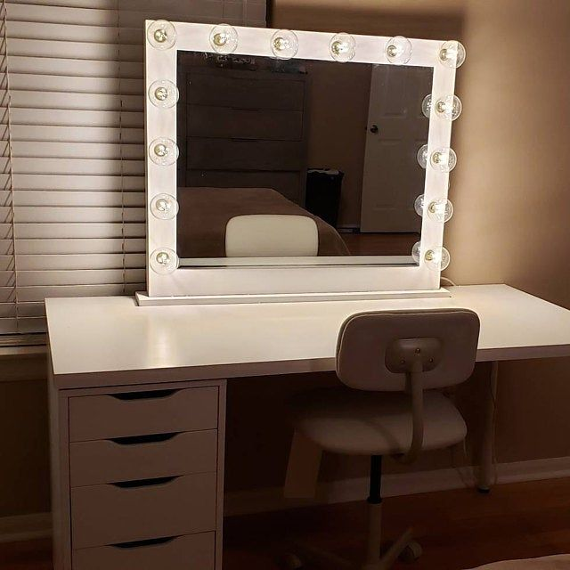 Free Shipping Financing Vanity Mirror With Lights Etsy Ikea Hollywood