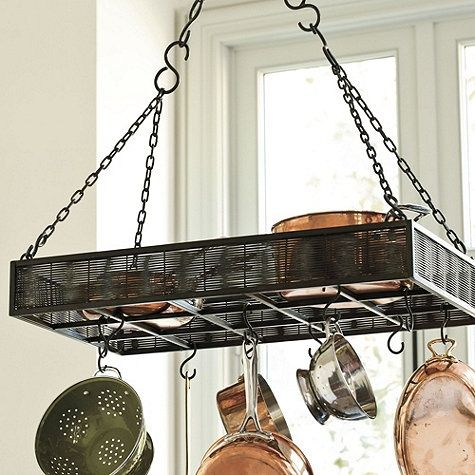 pot racks for small kitchens | Found on ballarddesigns.com