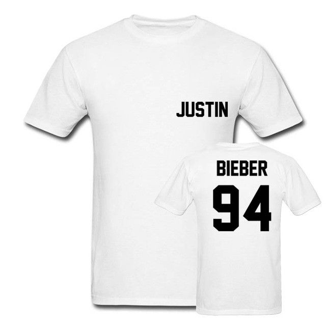 2017 Justin Bieber T Shirt Women Band Tshirt Rock Hip Hop Short Sleeve Name And Age T-shirt Tumblr Clothing Tee Shirt Size 4XL