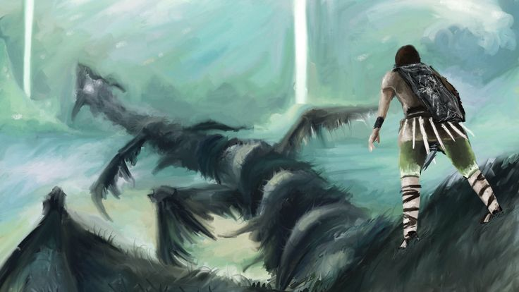 Game Shadow Colossus Artwork Video Games #wallpapers #widescreen