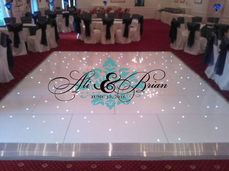 Huge damask theme dance floor decal wedding day fancy calligraphy font dance floor personalized names vinyl lettering colors by wallstory on etsy