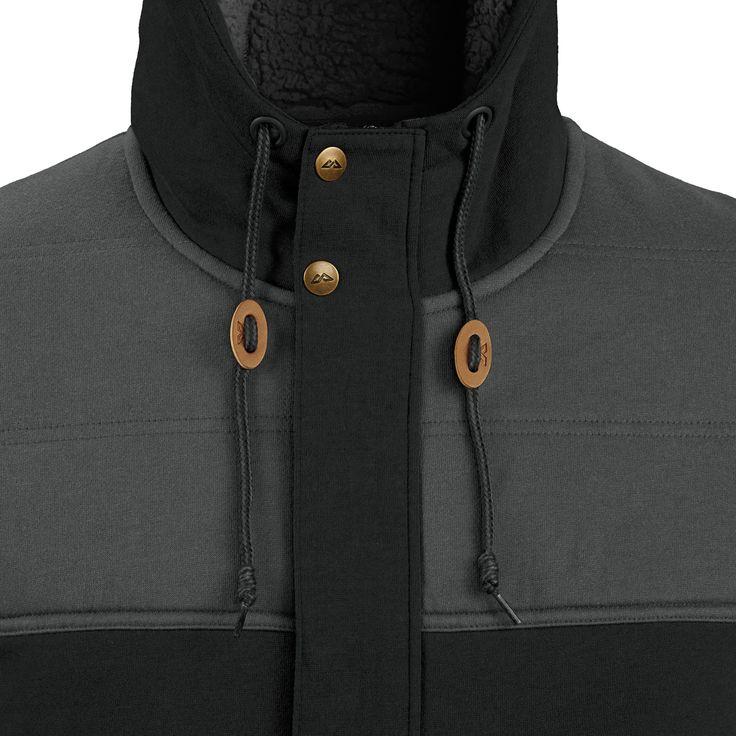 Buy Oslo Men's Fleece Hooded Jacket - Black online at Kathmandu