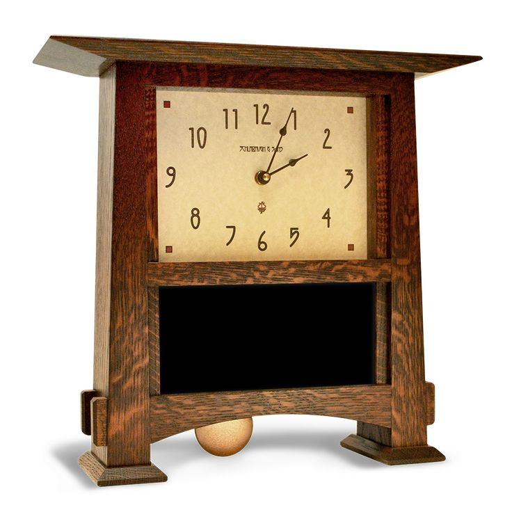 8x4 Horizontal Craftsman Clock from Motawi Tileworks