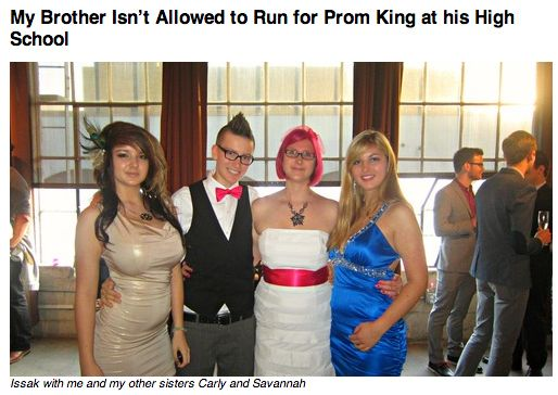 Transgender Student Denied Opportunity To Become Prom King