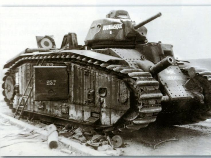 French tank Renault Char B1-bis.1940   Army (Tanks ...
