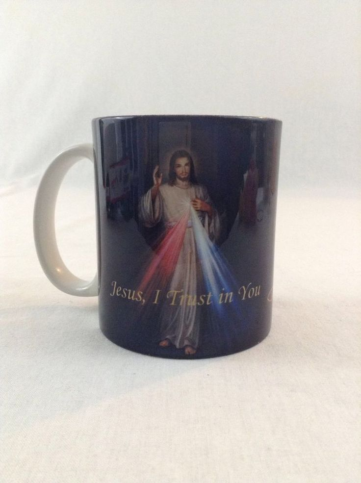 Jesus I Trust In You Catholic St. Faustina's Diary Quote Ceramic Coffee Cup Mug #Unbranded