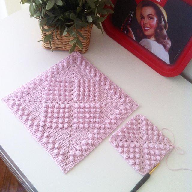 flzvarol crochet bobble texture pink