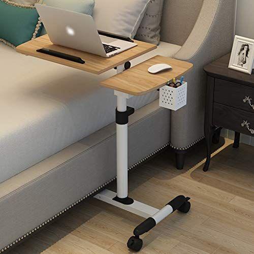 Lwwozl Bedside Table Foldable Computer, Portable Folding Desk Pc Laptop Bed Table