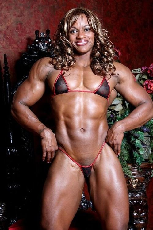 muscular females naked black