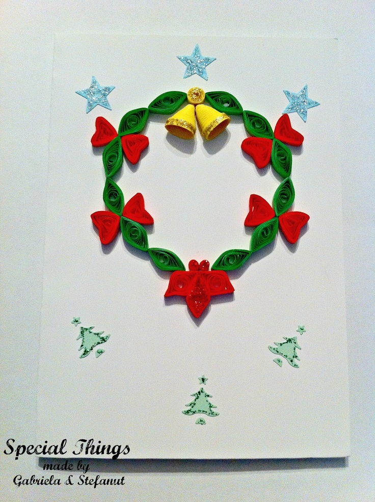 Card Name: Christmas Wreath *** Card Code: F13 *** Price: 6 RON *** For more details, visit our site: http://specialthings13.blogspot.ro/