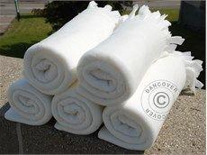 Fleece blankets tæppe (10 stk.),  hvid