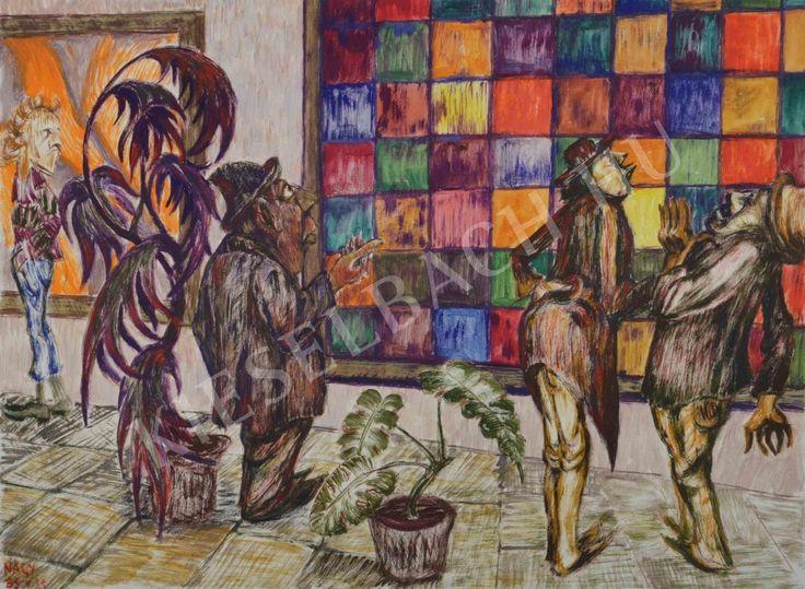 At the Exhibition - Károly Nagy