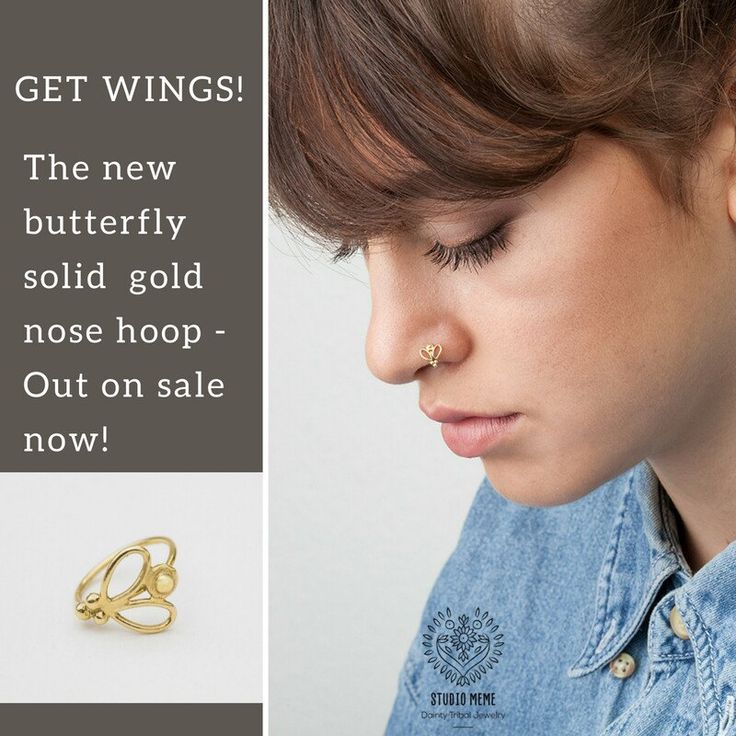 Quality solid gold nose jewelry on sale.