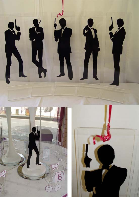 We love this Bond line-up. See more ideas for creating your own Bond themed party at www.sparklerparties.com/casino-royale