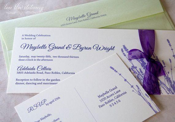 127 Best Lavender Cards For Weddings Images On Pinterest Lavender Weddings