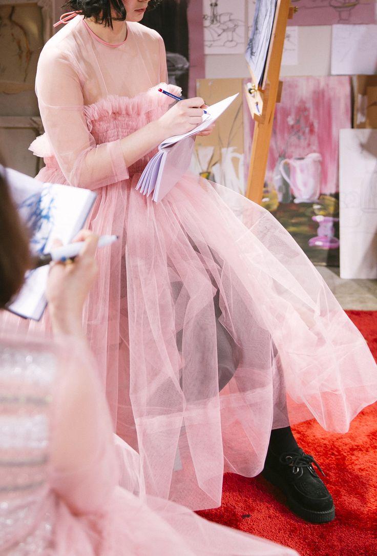Molly Goddard AW15 (Kensington Leverne, British Fashion Council)