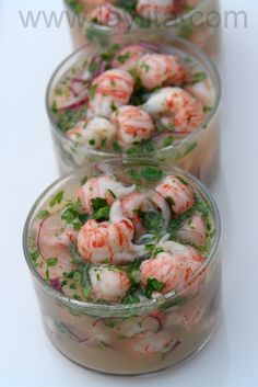 Langostino ceviche; you can use langostinos, crawfish, lobsters or shrimp for this recipe... it's all good!