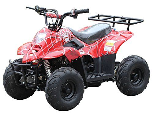 110cc ATV Four Wheelers Fully Automatic 4 Stroke Engine 6 Inch Tires Quads for Kids Spider Burgundy. For product info go to:  https://www.caraccessoriesonlinemarket.com/110cc-atv-four-wheelers-fully-automatic-4-stroke-engine-6-inch-tires-quads-for-kids-spider-burgundy/