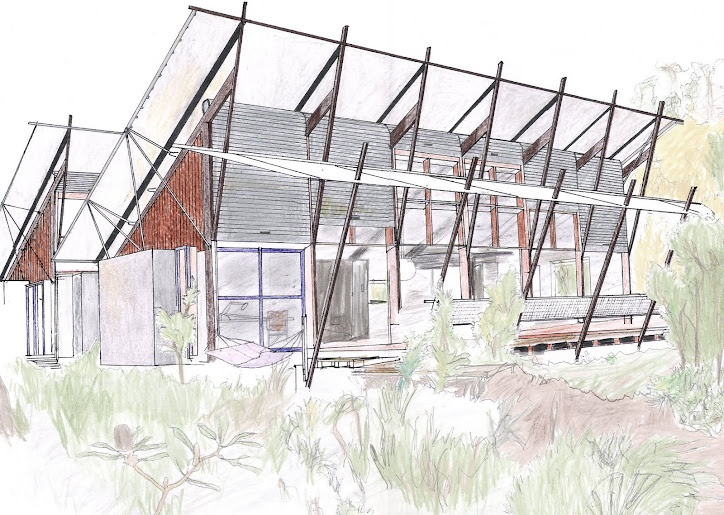 Eco-cultural. Marika Alderton House, Yirrkala Community, East Arnhem Land, NT, Australia, Glen Murcutt (1994): The design connects the inhabitant's culture with a contemporary building.  The design incorporates traditional dwelling usage and building typology.