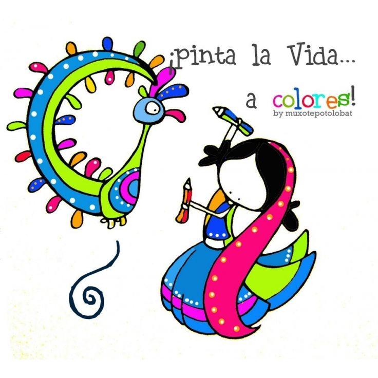 "Lámina Pinta la vida...a colores"" - Muxote Potolo Bat Tienda Online"