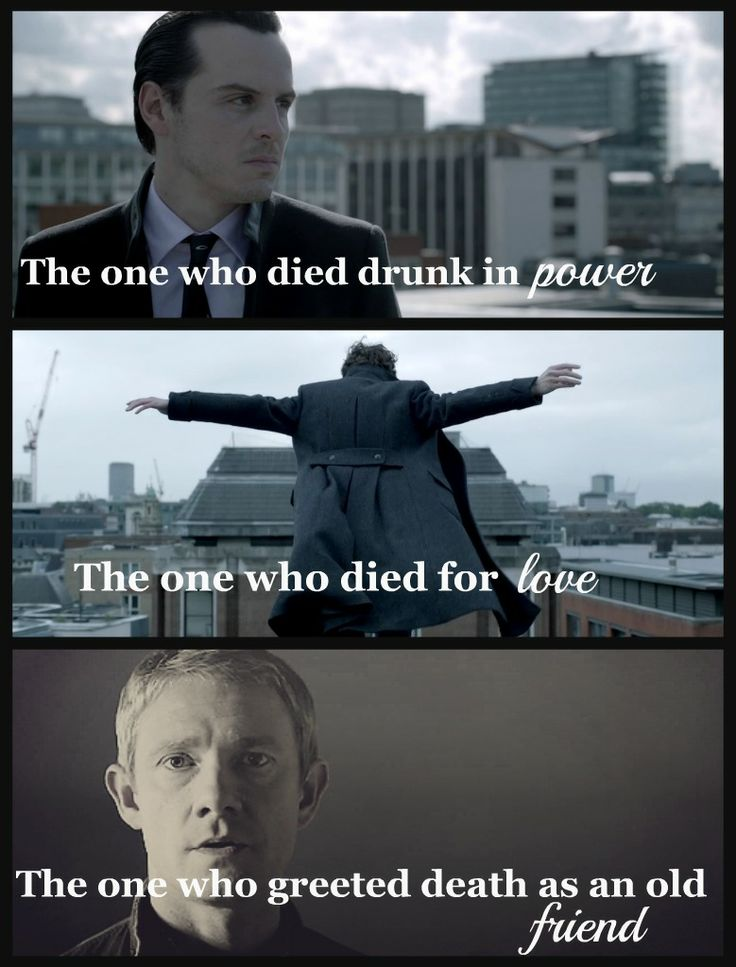Sherlock BBC/ Harry Potter... The three brothers, Deathly Hallows... So cool!