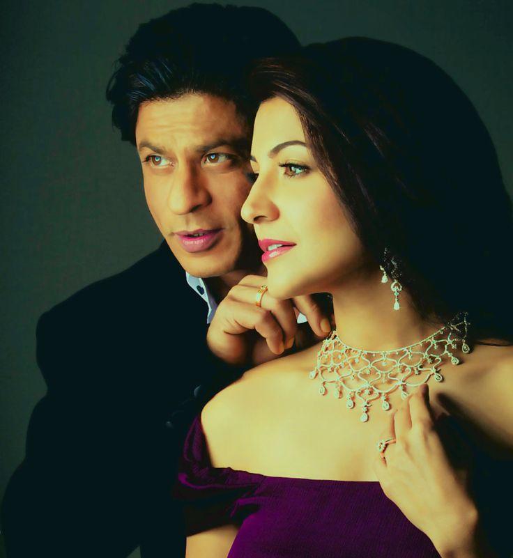 Diamonds are a girl's best friend. #SRK #Shahrukh #Anushka #Bollywood