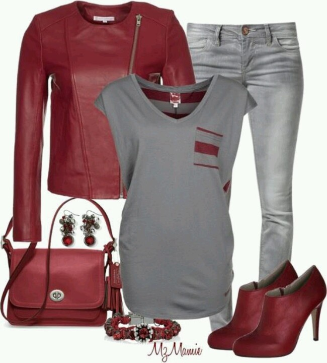 *Red & silver outfit inspo