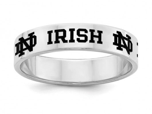 Notre Dame Fighting Irish Sterling Silver RIng
