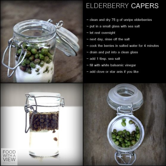 Elderberry capers - it has to be done!