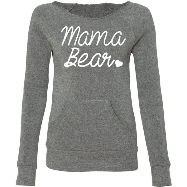 Mama Bear Mama Bear Off Shoulder Sweater Women Eco Fleece Sweatshirt... (865 UAH) ❤ liked on Polyvore featuring tops, hoodies, sweatshirts, grey, sweaters, women's clothing, off the shoulder tops, bears sweatshirt, gray top and grey off the shoulder top