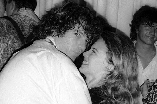 Michael Hutchence and Kylie