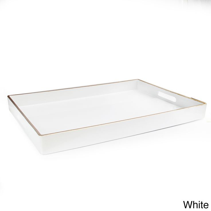 Entertain your family and friends with this contemporary serving tray, which is easy to carry due to its two integrated side handles. Made from polypropylene, the tray is durable and easy to clean.