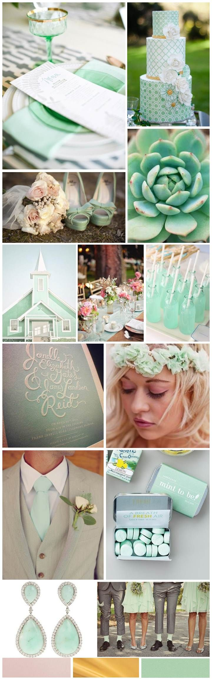 Mint wedding, inspiration board designed by The Simplifiers: Event Planning - Austin, Texas - austin wedding planner