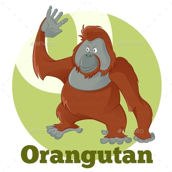 Vector image of the ABC Cartoon Orangutan2