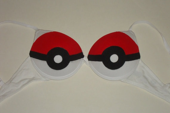 Pokebra the Pokemon Pokeball Push-up Bra : Standard bra  £18.94