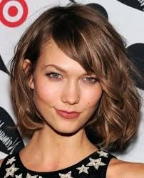 medium size hairstyles with facet bangs – Google Search