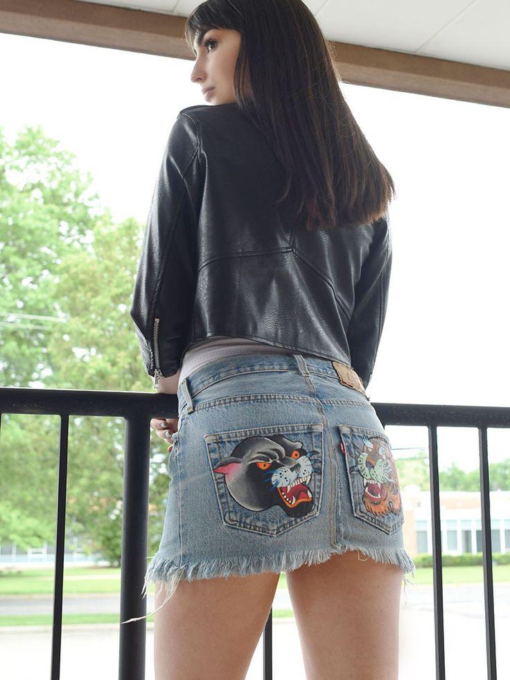 Vintage Kat Kween Denim Mini Skirt - Gypsy Warrior