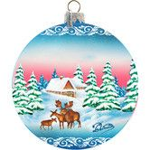 Found it at Wayfair - Holiday Winter Forest Moose Glass Ball Ornament