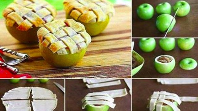 Bake an Apple Pie in an Apple for Impressive Individual Servings, amaaaazing idea!!