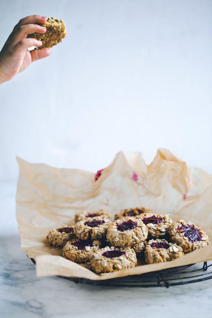 Thumbprint jam cookies