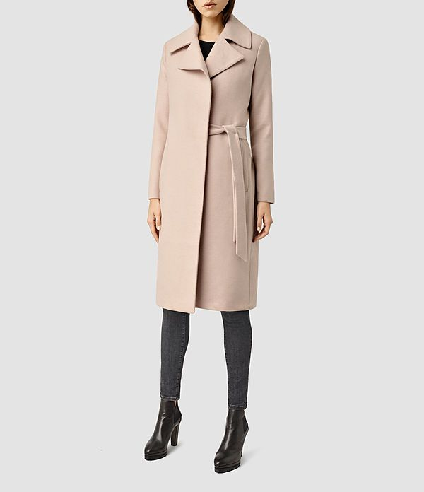 Womens Iya Mai Coat (Dusty Pink) - product_image_alt_text_2
