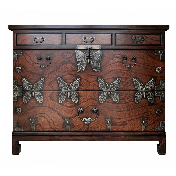 Китайский комод Chinoiserie chest of drawers Butterfly