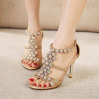 damesschoenen shimandi enkelband naaldhak strass sandalen schoenen - EUR € 37.99